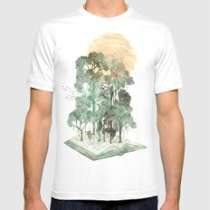 Jungle Book SMALL Mens Fitted Tee White