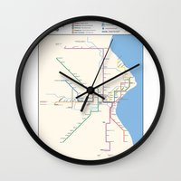 Milwaukee Transit System Map Wall Clock