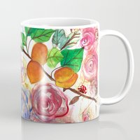 Abstract Watercolour Floral + Fruit Painting  Mug