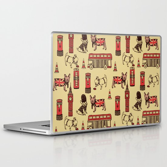London Frenchies Laptop & iPad Skin