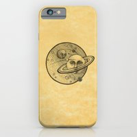 iPhone Cases featuring Saturnus  by Nina Ezgik
