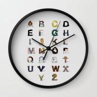 Star W. alphabet Wall Clock