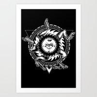 Buer white Art Print