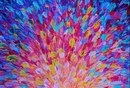 SPLASH, Revisited - Bold Beautiful Feminine Romance Ocean Beach Waves Magenta Plum Turquoise Crimson Canvas Print