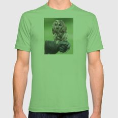 Northern Saw-Whet Owl Mens Fitted Tee Grass SMALL