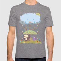 color raindrops keep falling on my head Mens Fitted Tee Tri-Grey SMALL