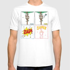 Origin Story White SMALL Mens Fitted Tee