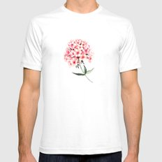 Watercolor flower phlox White SMALL Mens Fitted Tee
