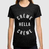 Creme 2.0 Womens Fitted Tee Tri-Black SMALL
