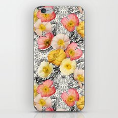 Collage of Poppies and Pattern iPhone & iPod Skin