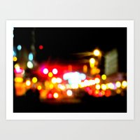 bokeh in manhattan Art Print