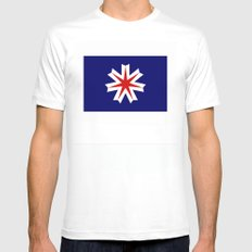 hokkaido region flag japan prefecture SMALL Mens Fitted Tee White