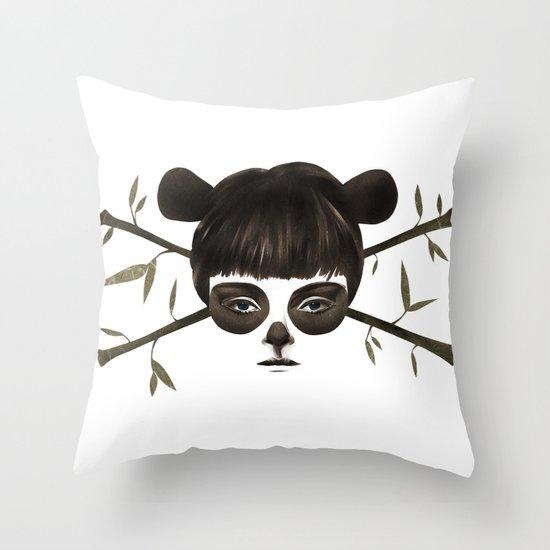 Pirate Panda Throw Pillow