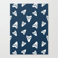 Sharks Tooth Pattern Canvas Print