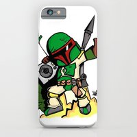 iPhone & iPod Case featuring DJ Boba Fett by Hurtin Albertan