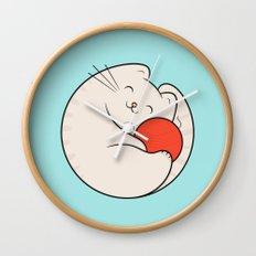 nila, the cat Wall Clock