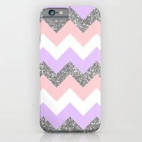 purple & coral chevron iPhone 6 Slim Case