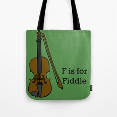Fiddle, Typed Tote Bag