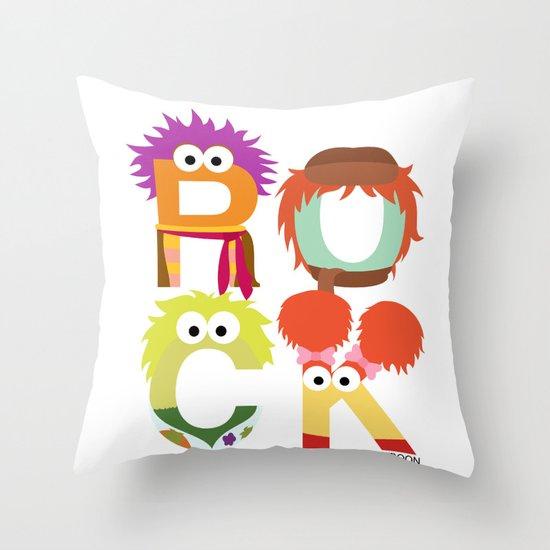"""A Fraggle """"ROCK"""" Throw Pillow"""