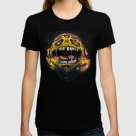 WACK-MAN! Womens Fitted Tee Black SMALL