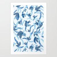 blue blue blue Art Print