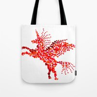 Extremely hearty unicorn pegasus Tote Bag
