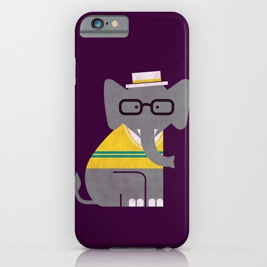 Rodney the preppy elephant iPhone & iPod Case