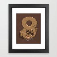 Chase Your Tail Forever Framed Art Print