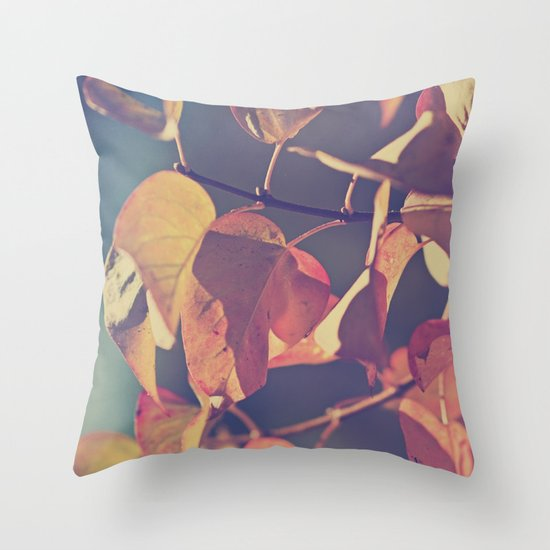Color of the Leaves Throw Pillow