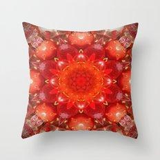 Strawberry Days Mandala Throw Pillow