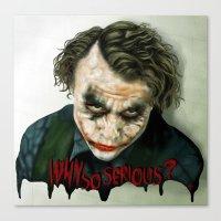 Heath Ledger: Joker ''Re… Canvas Print
