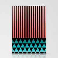 Peach/Teal Stationery Cards