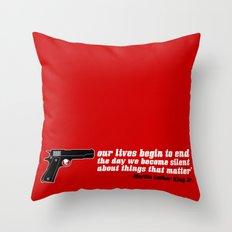 silencer [reloaded] Throw Pillow
