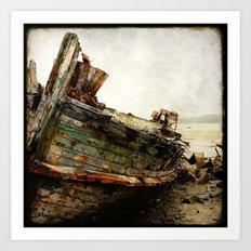 Boat Wreck #7 Art Print