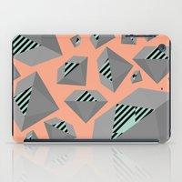Mint And Gray Diamond On… iPad Case