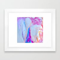 Fire in the Center of the Cave Framed Art Print