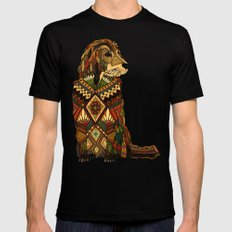 Golden Retriever ivory SMALL Mens Fitted Tee Black