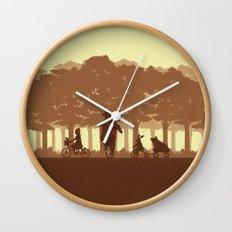 Biking with Friends Wall Clock