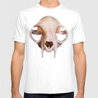 Felidae Mens Fitted Tee White SMALL