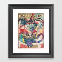 Psychedelic Chicken Farm… Framed Art Print