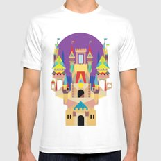 castle  SMALL Mens Fitted Tee White