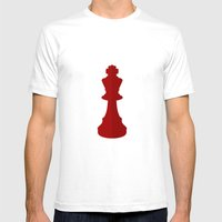 Red Chess Piece - No Tex… Mens Fitted Tee White SMALL