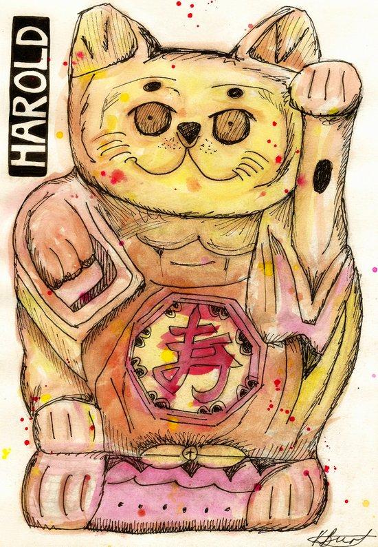 Harold the Chinese Cat Art Print