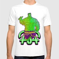 Incredible Hulk Mens Fitted Tee White SMALL