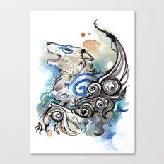 Blue Okami Amaterasu Canvas Print
