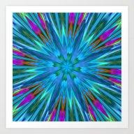 Inverted/Solarized Abstr… Art Print
