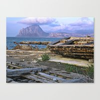 Old Port of Trapani on the Isle of Sicily Canvas Print