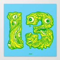 Ugly 13 Canvas Print