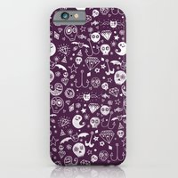 iPhone & iPod Case featuring Day of the dead - Purple by Farnell