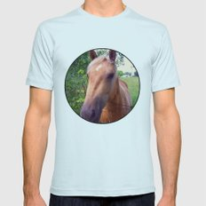 Behind the Fence Mens Fitted Tee Light Blue SMALL